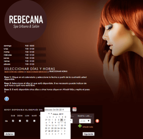 Paso 10 Cita On Line Rebecana.com
