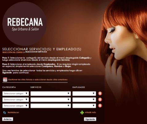 Paso 3 Cita On Line en Rebecana.com