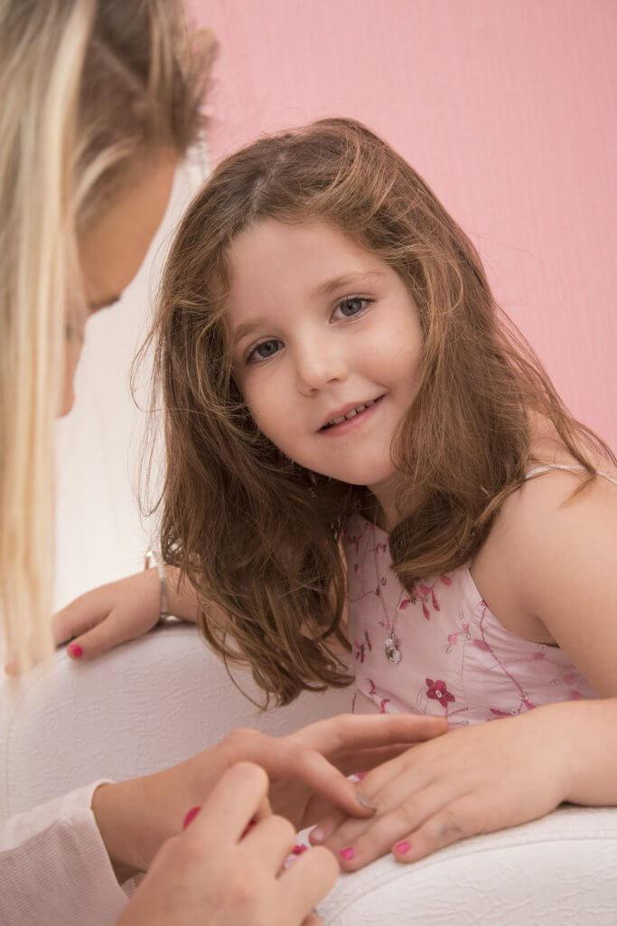 manicure para niñas