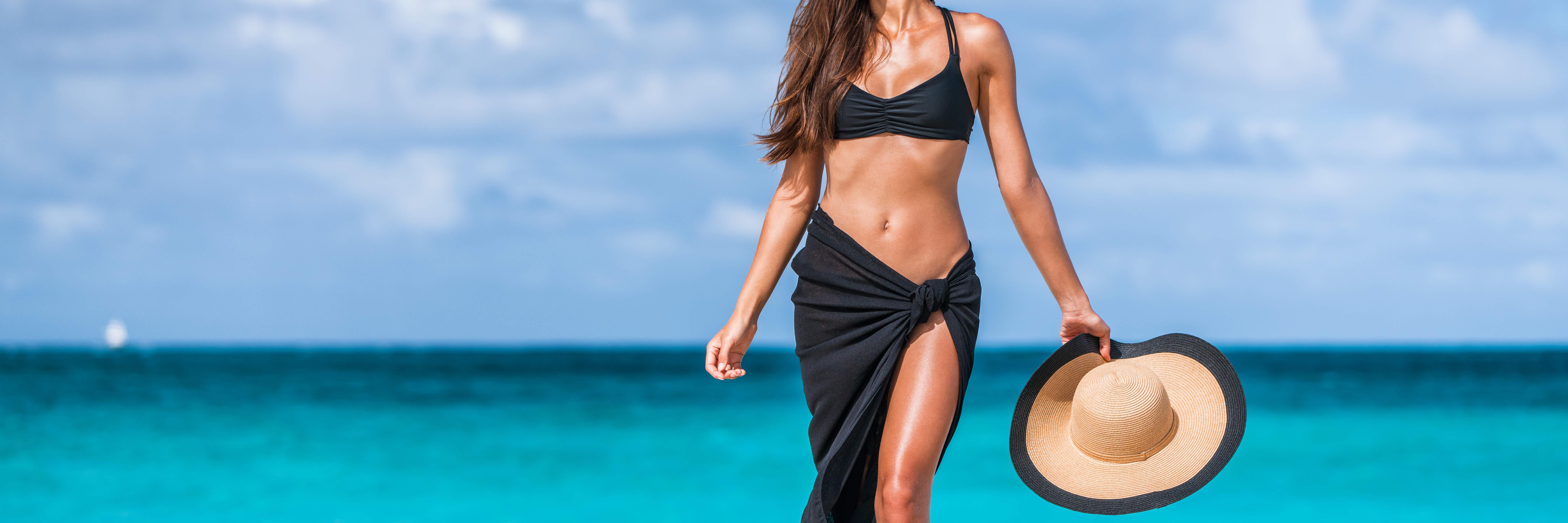 Mujer Playa Depilada